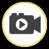 camara personalizada icono play video